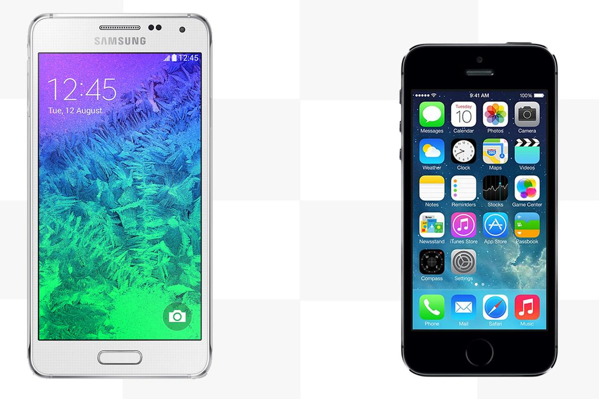 Gizmag compares the features and specs of the Samsung Galaxy Alpha and Apple iPhone 5s