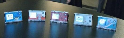 left to right: The Marine Group yacht company; Emergency Medical Information's EMI 911 rCard; CEO IQ's rCard; Titanic Museum in Branson; and a card for future retail distribution.
