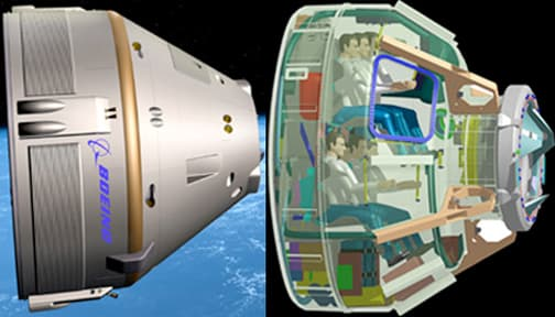 Cross-section of Boeing's CST-100 spacecraft (Image: Boeing)