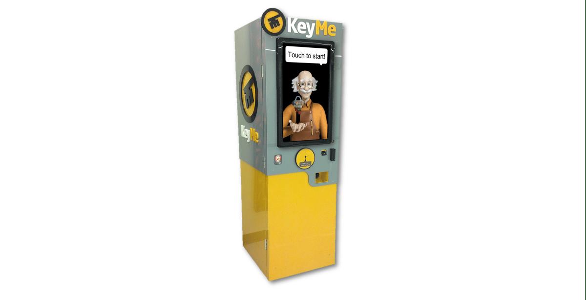 The KeyMe kiosk stores keys as digital patterns in the cloud for latter duplicating