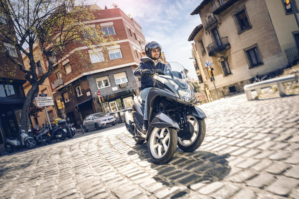 The Yamaha Tricity 155 tackles the city with a bigger engine in a new frame