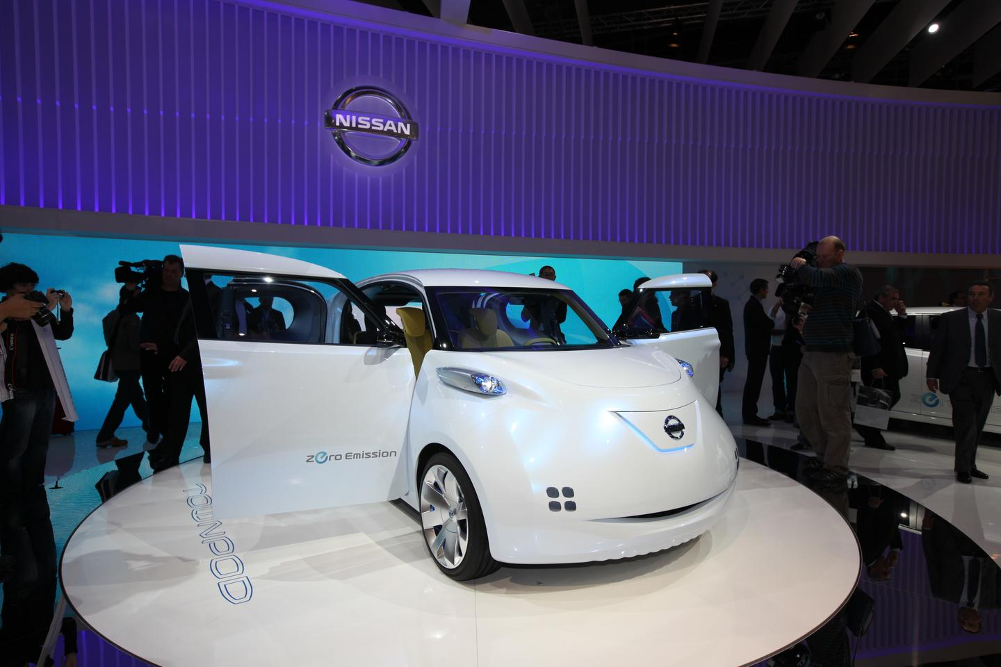 Nissan's Townpod concept looks almost cartoon-like from the front