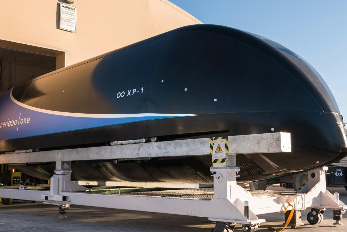 Virgin Hyperloop One's newspeed record was set using an unmanned prototype travel pod
