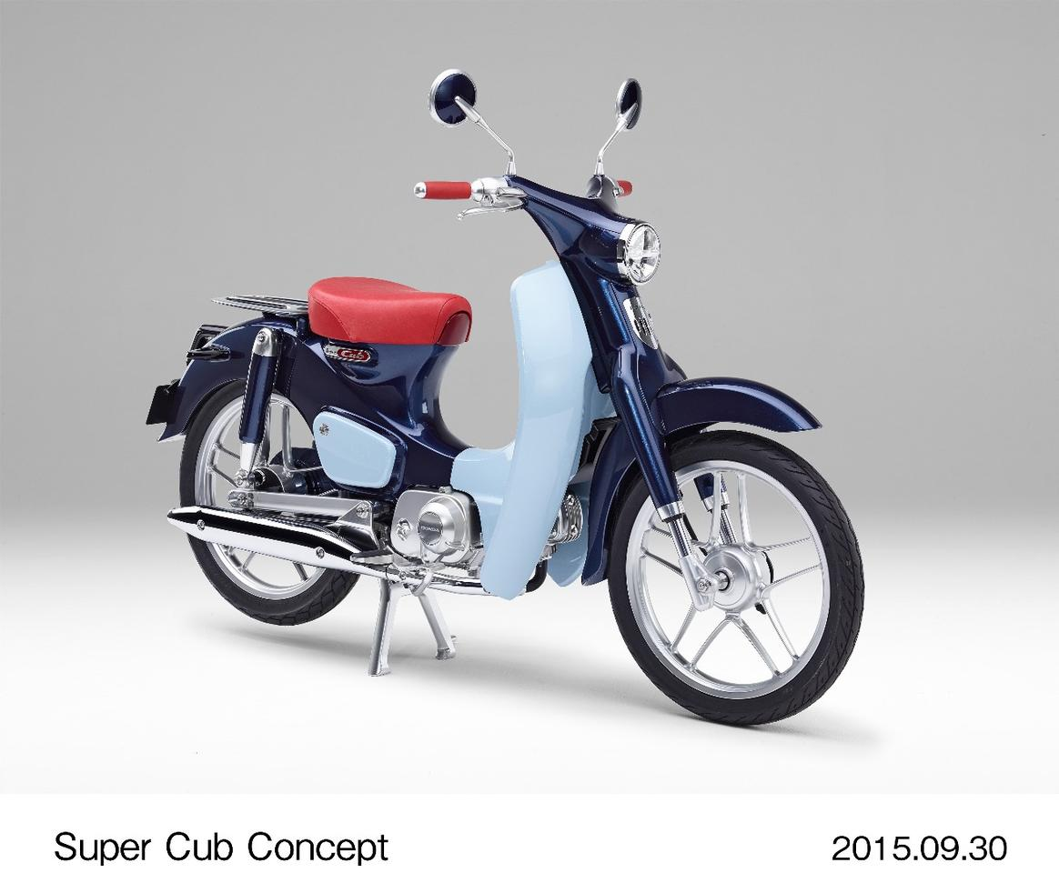 The Honda Super Cub Concept is a modern take on the venerable 1958 original