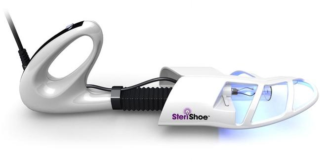 The SteriShoe Shoe Sanitizer uses UV light to kill microorganisms in shoes