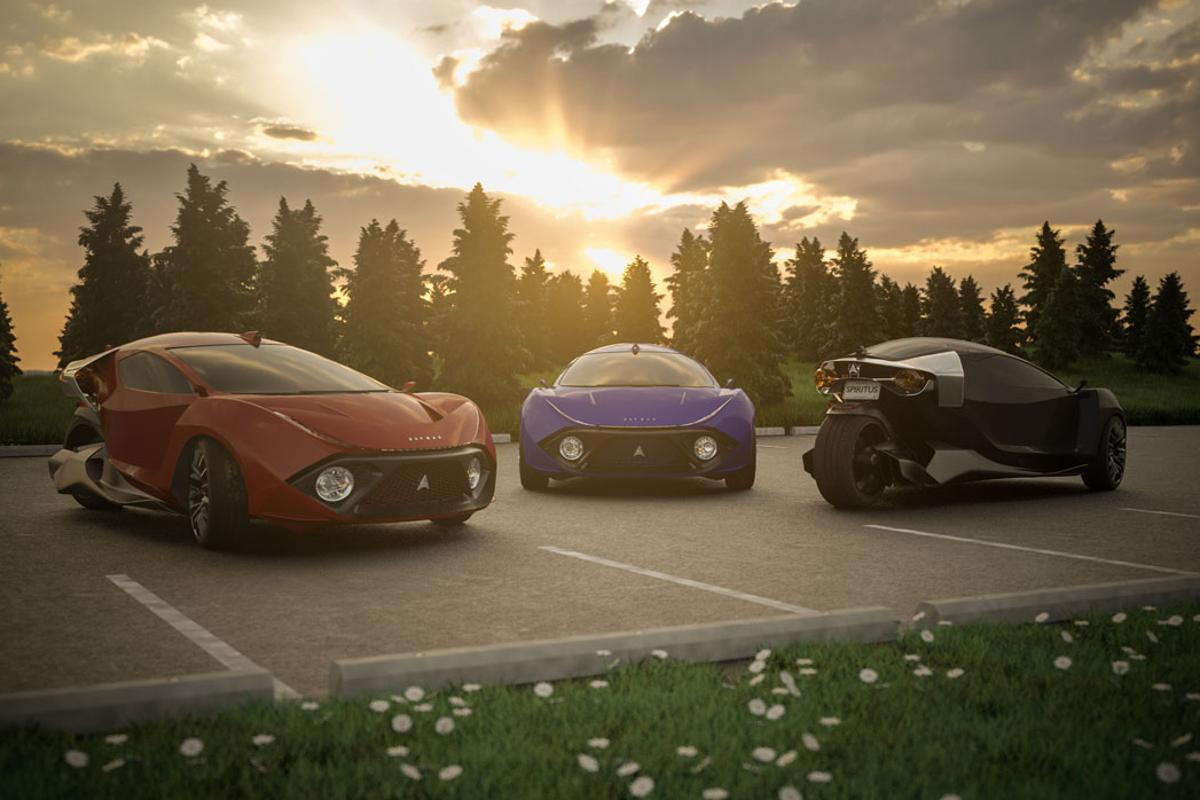 Daymak plans to begin production of its Spiritus electric three-wheeler in 2023