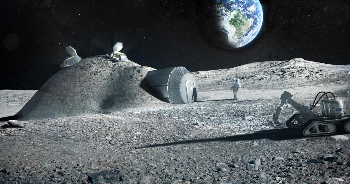 Astronaut pee could help build 3D printed moon bases