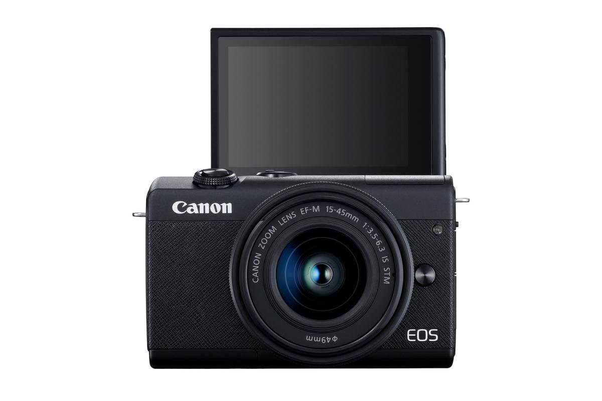 The EOS M200 is selfie-friendly