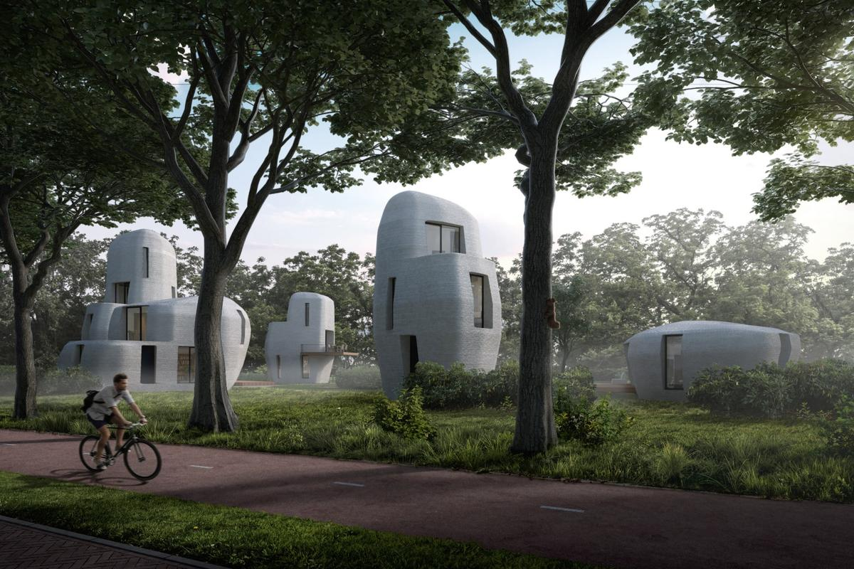 Project Milestone will consist of five 3D-printed houses designed to look like large stones