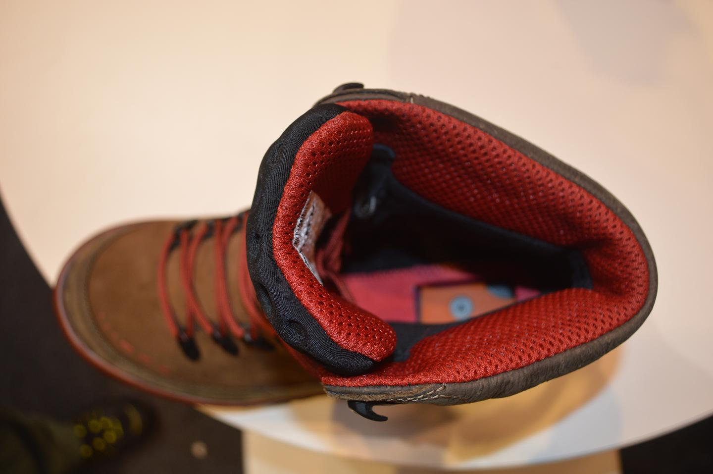 The hidden compartment under the insole holds a the Sparkie firestarter