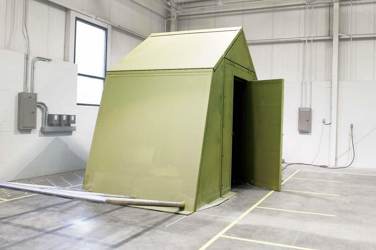 A new type of rigid military shelter developed at the University of Notre Dame is said to cut energy use in the field by 70 percent