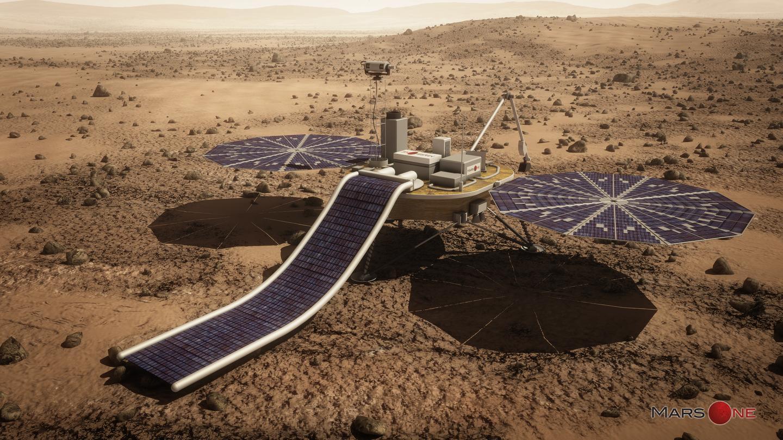 Artist's concept of the Mars One lander (Image: Lockheed Martin)