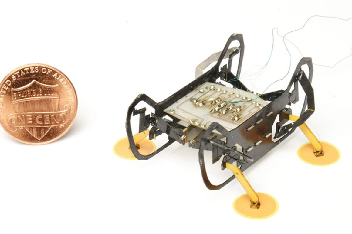 HAMR-E is based on an earlier Harvard robot that can scurry around like bugs and even walk on water