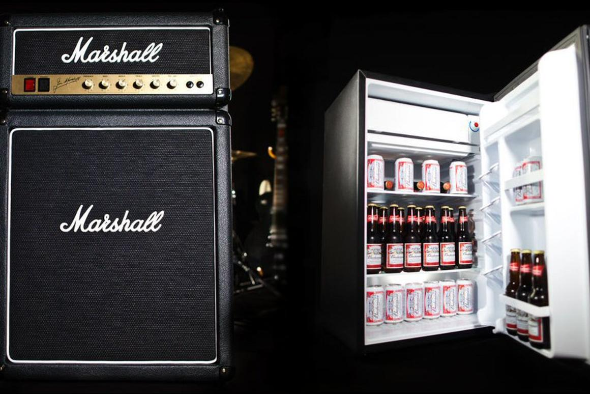 Marshall Amps has revealed a fridge at Frankfurt's Musikmesse that's shaped just like one of its iconic amps