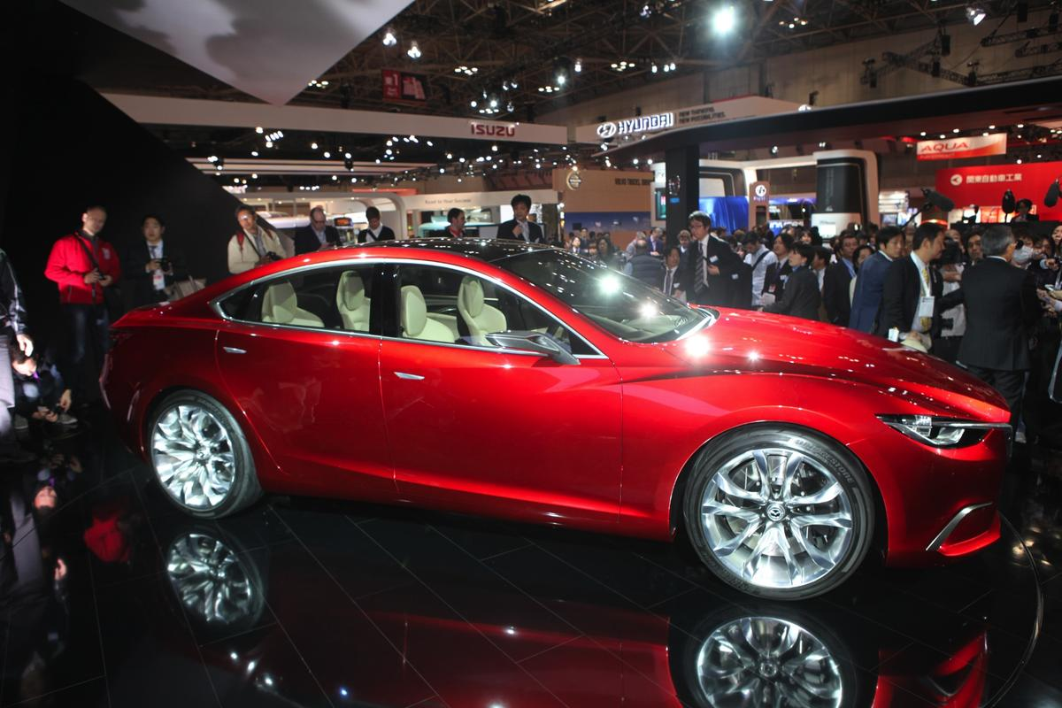 Mazda's TAKERI concept car at the 2011 Tokyo Motor Show