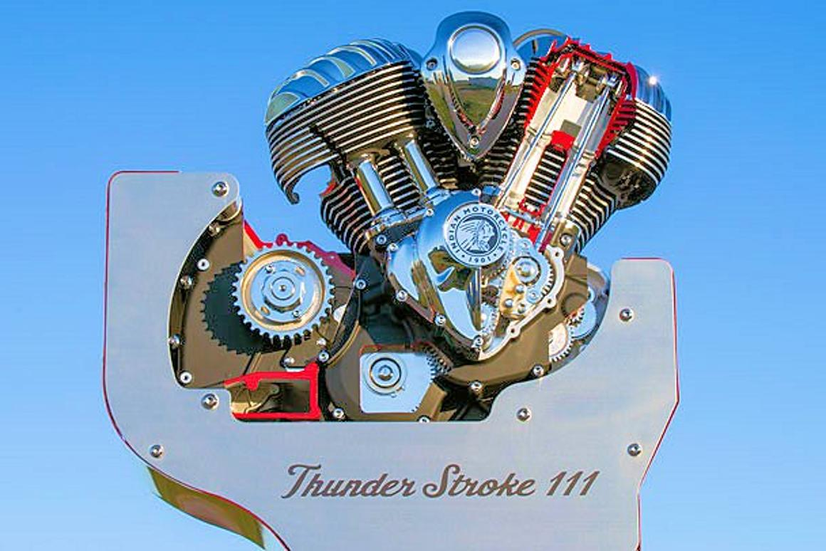 A clean-sheet V-Twin engine for the new 2014 Indian