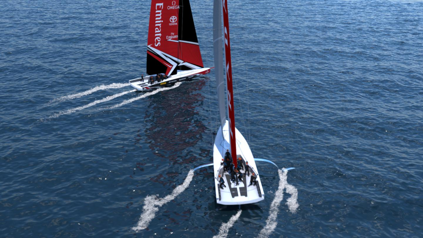 Emirates Team New Zealand says the AC75 yacht design will make for great match racing