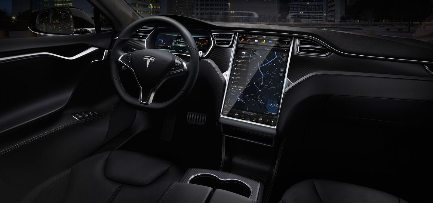 The Model S has been made safer with the addition of a number of active safety features(Photo: Tesla)