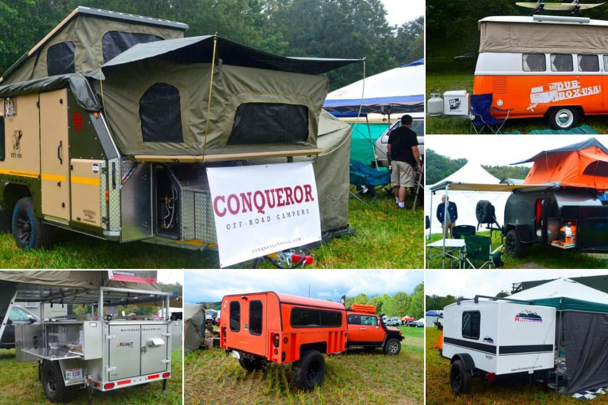 Trailers on display at Overland Expo East 2016