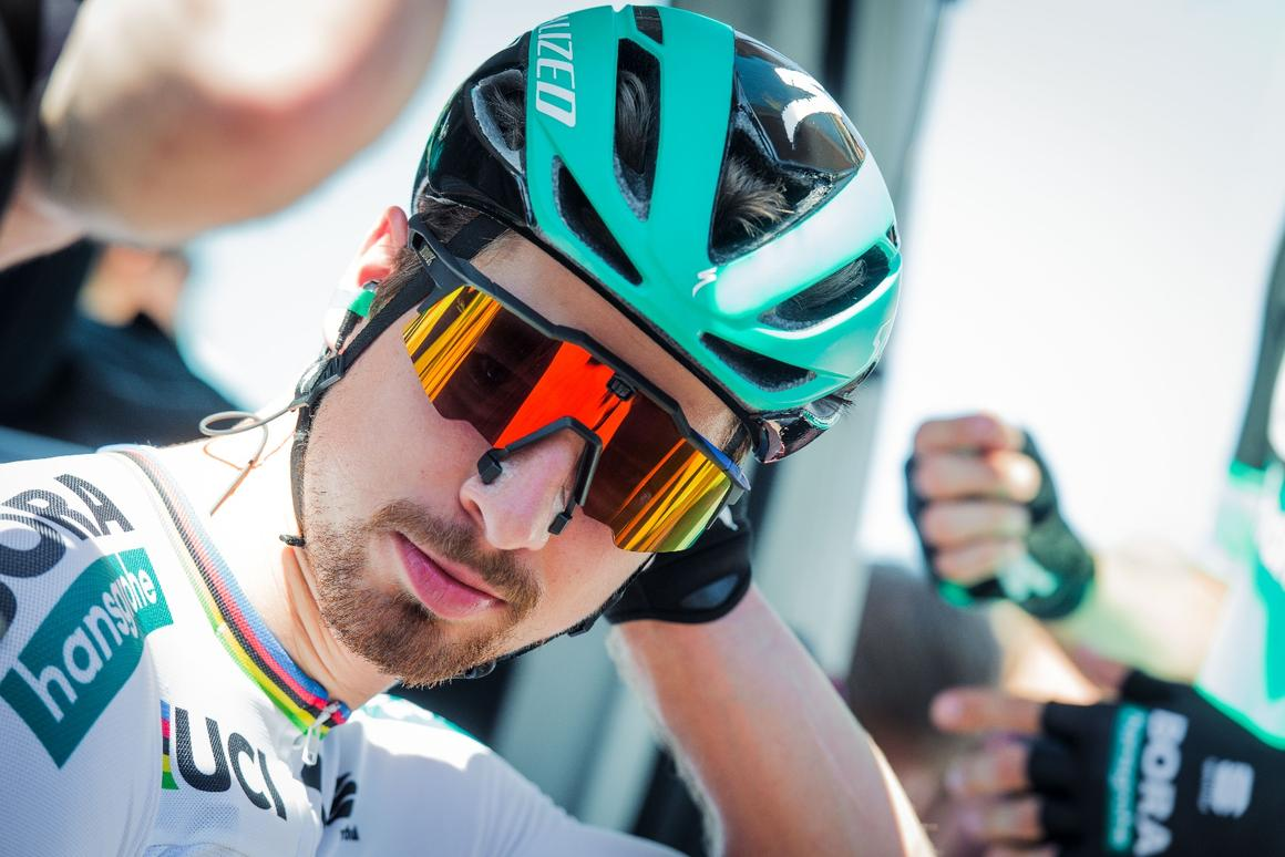 UCI Road World Champion Peter Sagan has been racing with the glasses