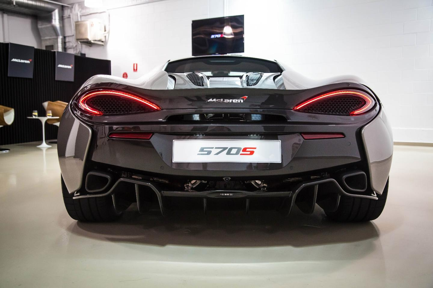 The diffuser of the 570S has been inspired the P1