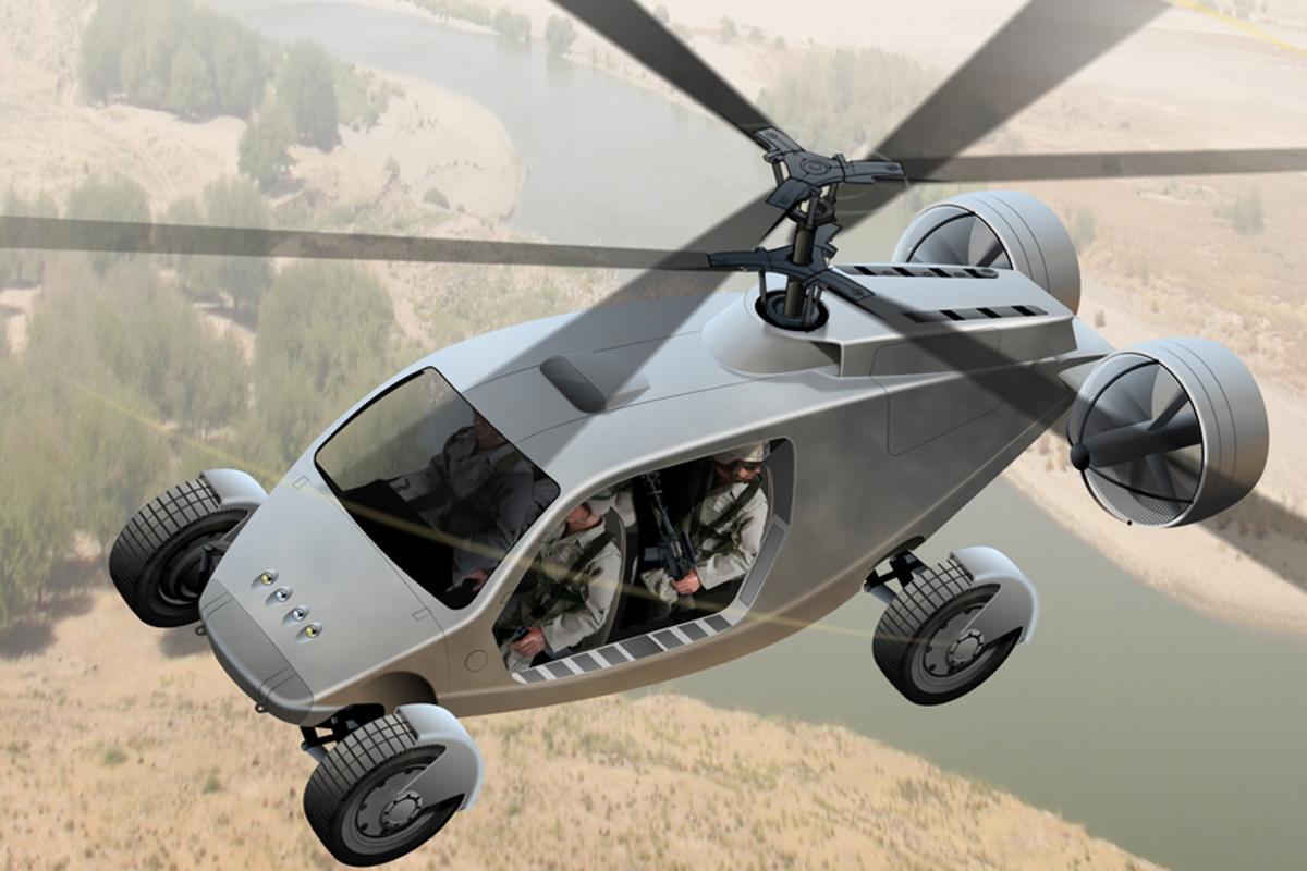 The AVX TX fly-drive vehicle boasts VTOL capabilities
