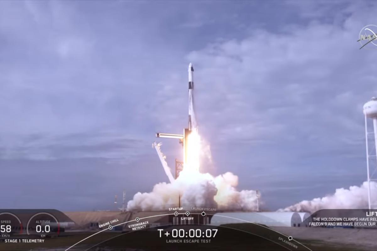 NASA and SpaceX completed a launch escape demonstration of the company's Crew Dragon spacecraft and Falcon 9 rocket