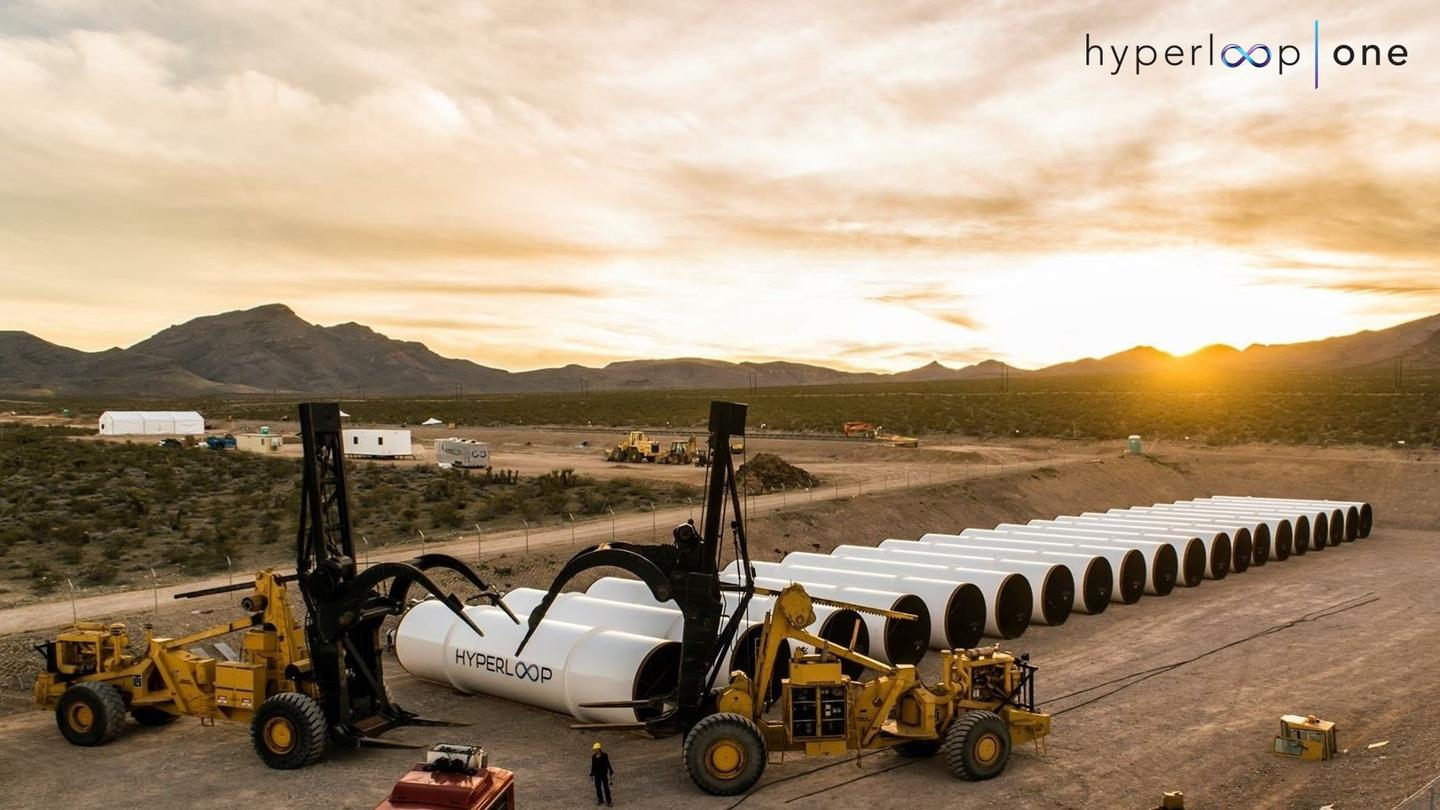 Hyperloop One's test facility north of Las Vegas