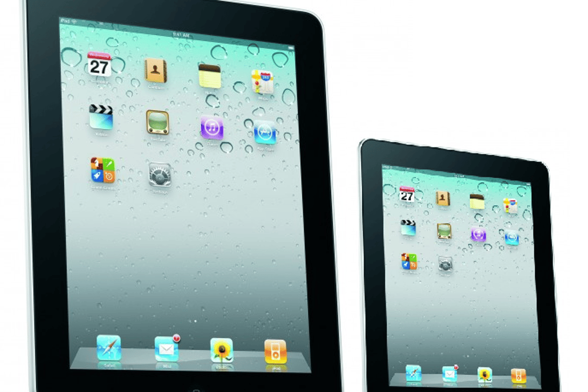 A mockup of how a 7-inch iPad might stack up