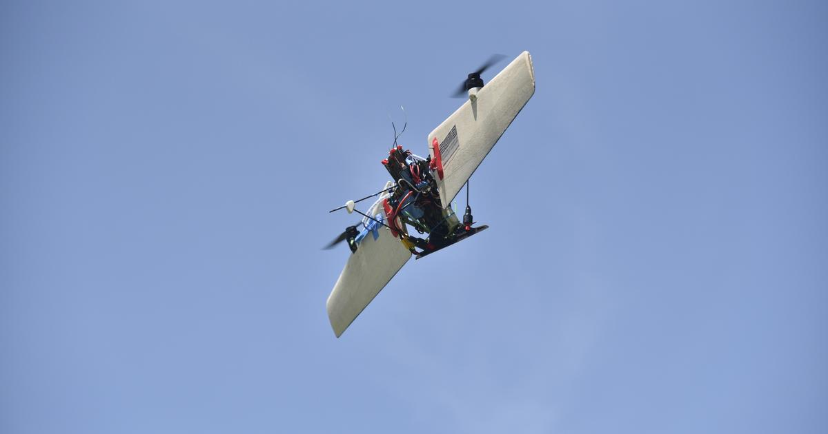"""THOR"" hybrid UAV hovers like a helicopter, flies like a plane"