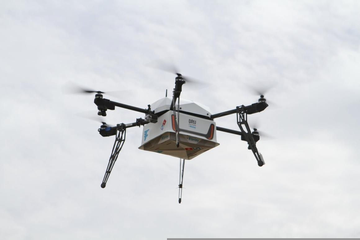 Domino's has teamed up with drone company Flirtey for the venture