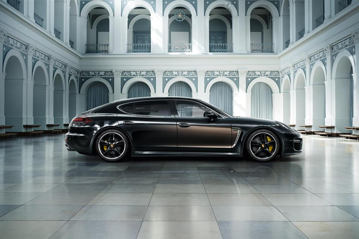 The Panamera's wheelbase has been stretched for a more comfortable rear seat ride