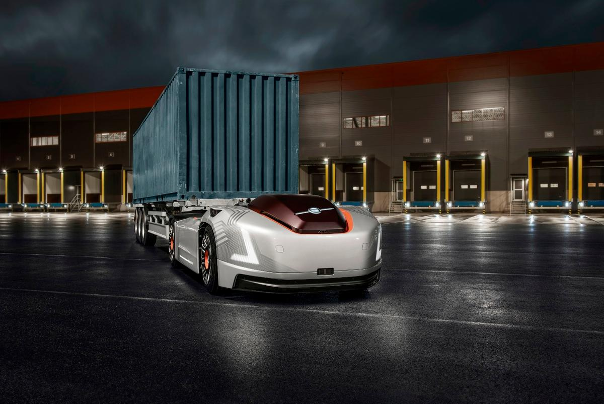 What would truck cabins look like if they didn't need to accommodate a human driver?