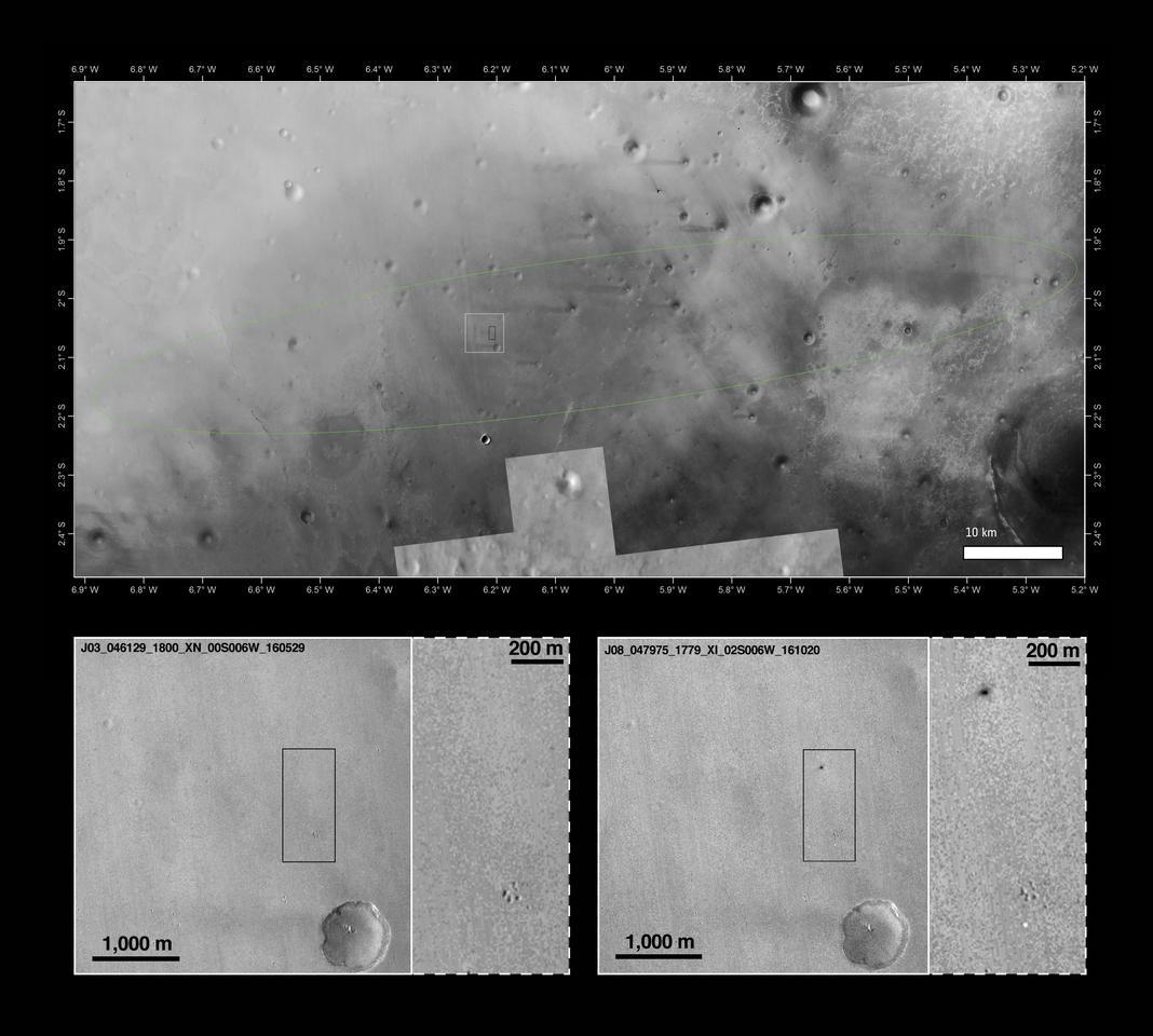 Mars Reconnaissance Orbiter view of Schiaparelli landing site