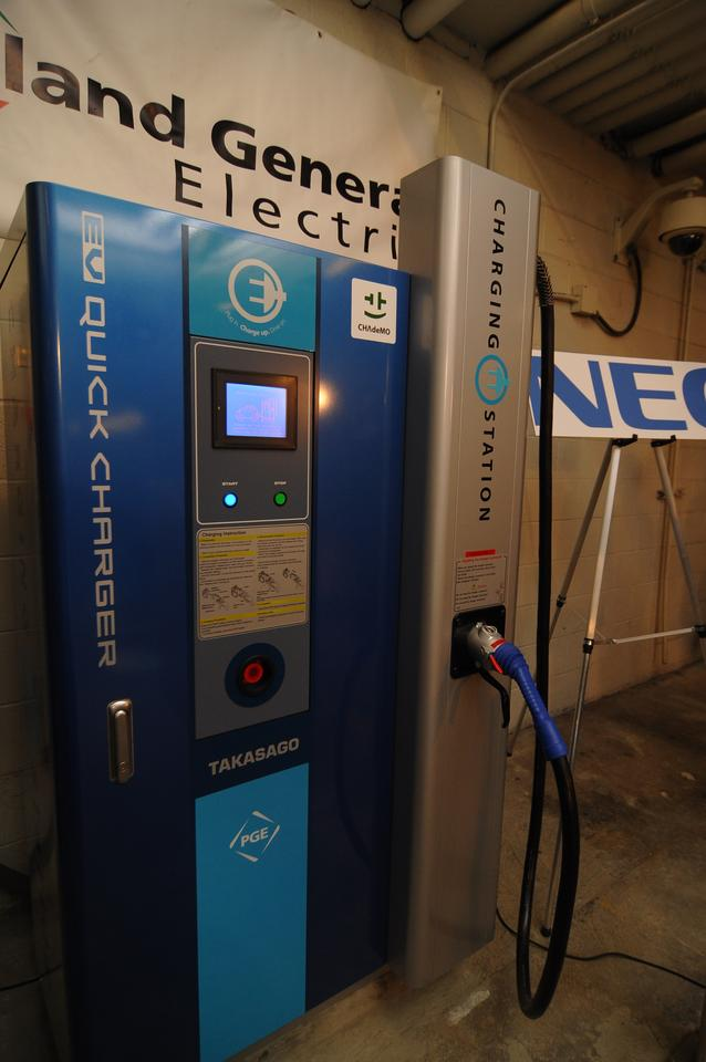America's first public-use, quick-charge station for electric vehicles has just been opened by Portland General Electric and NEC
