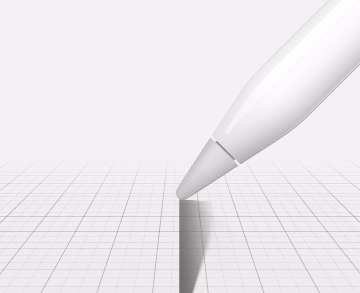 The Apple Pencil lets you tilt its tip to shade, like you'd do with a real pencil