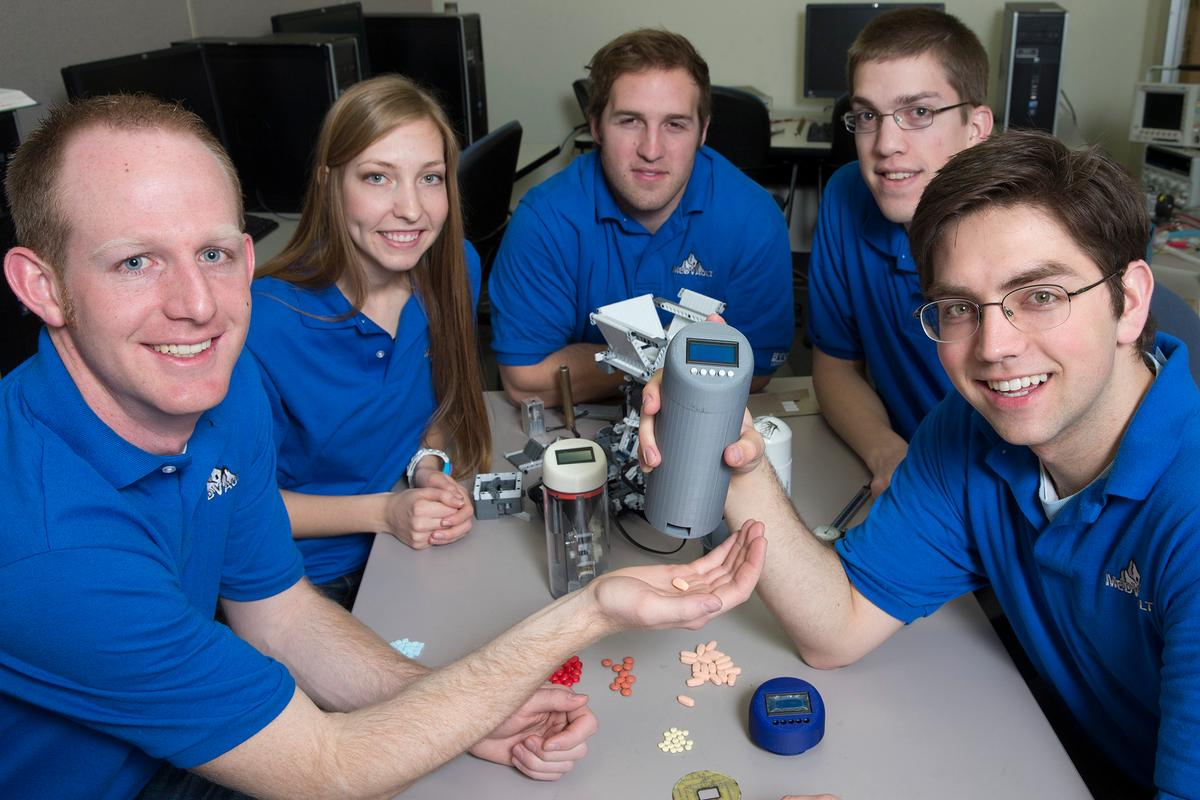 Brigham Young University's Team Med Vault, with their painkiller-dispensing device