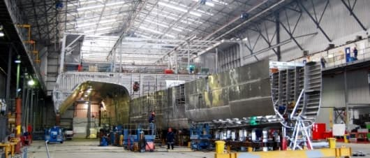 Austal's next generation trimaran is nearing completion and should be ready for sea trials in October