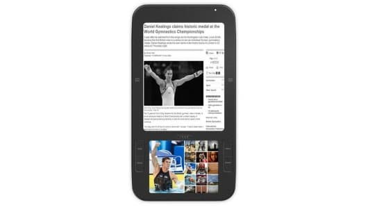 Spring Design's Alex dual-screen Android-based e-book reader