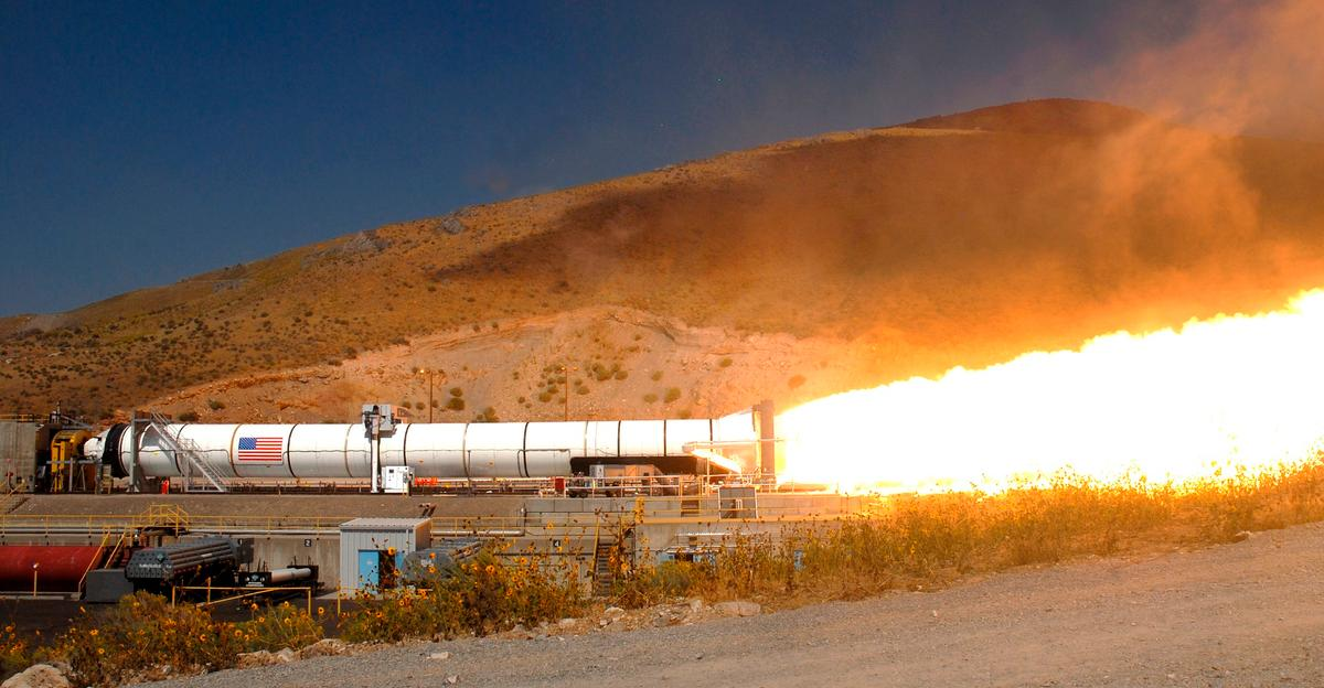 The RCI 3D-printed rocket fuel is an advance on the more conventional solid rocket fuel used in this NASA booster