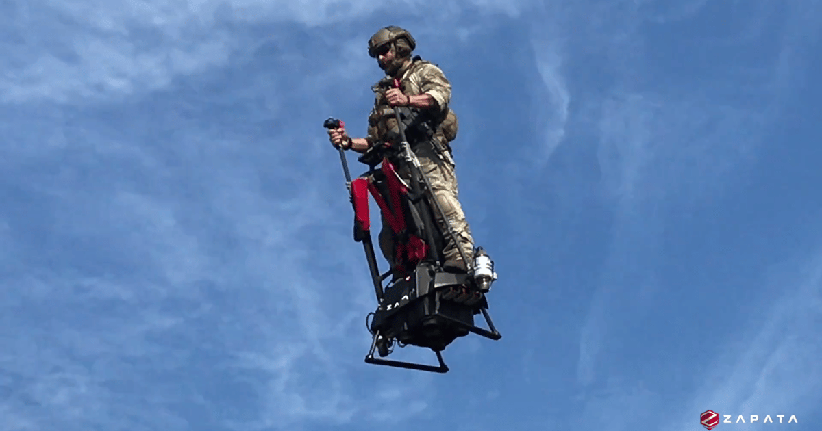 Zapata Ezfly: The jet-powered aerial Segway anyone can fly