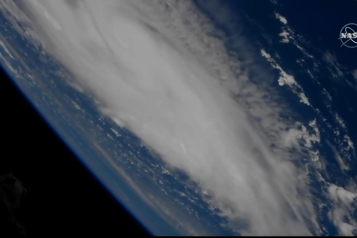 Hurricane Dorian as seen from the International Space Station on August 29