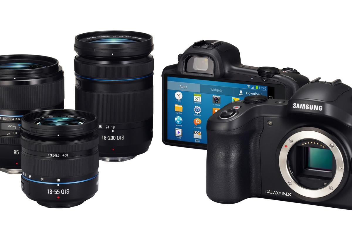 The Samsung Galaxy NX is the world's first interchangeable lens camera to run on Android