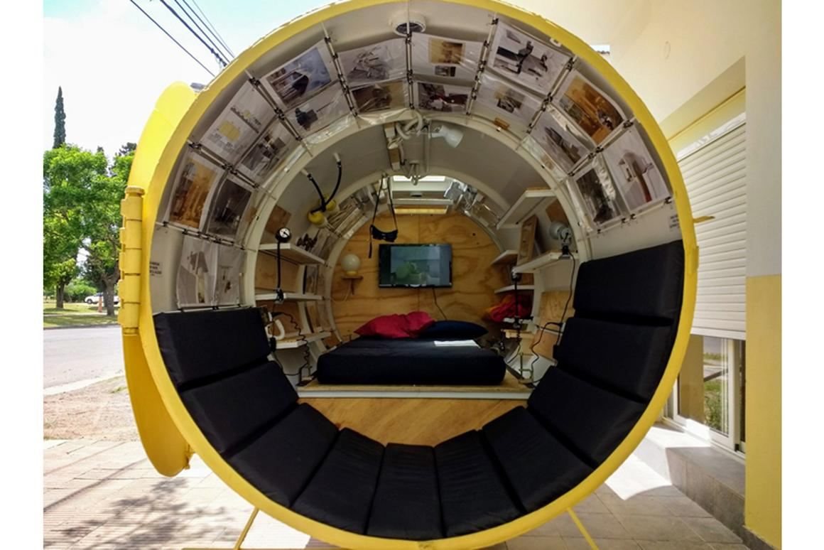 The Bunker measures 3 m (9.84 ft)-long and1.5 m (5 ft) in diameter