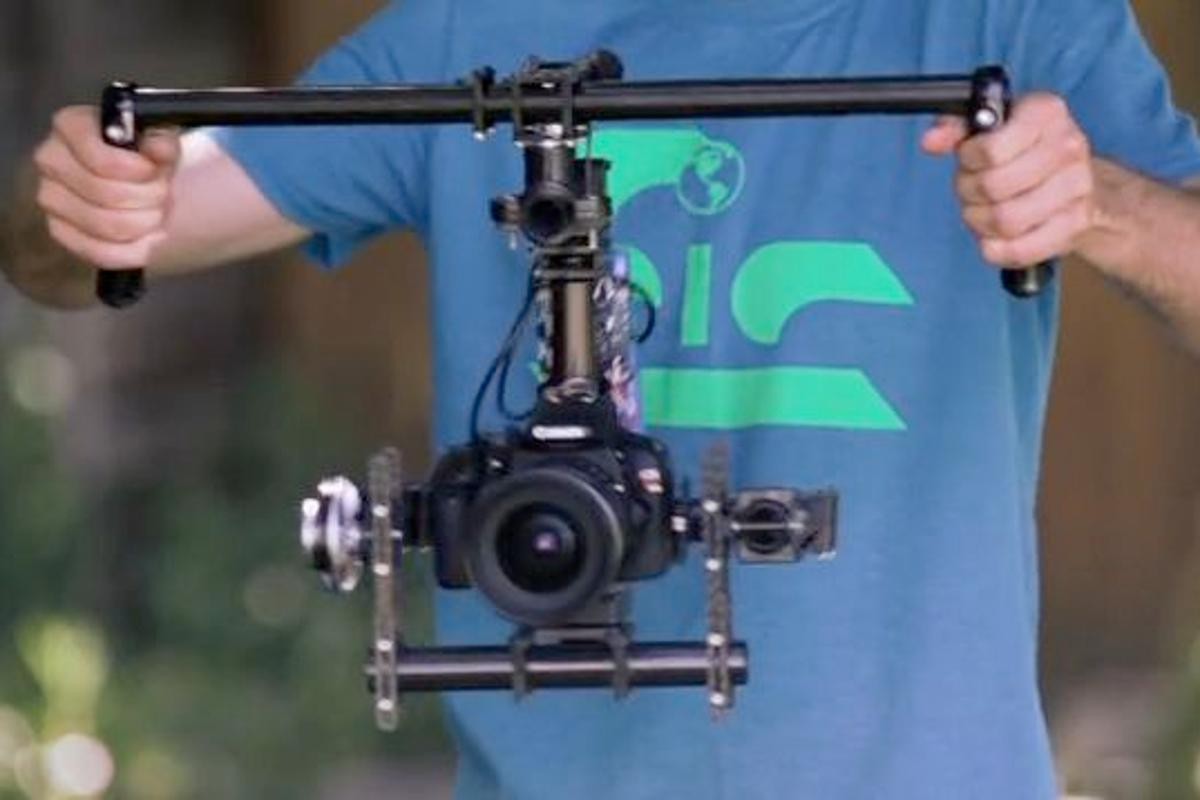 The Ghost is a new motorized video camera stabilizing rig