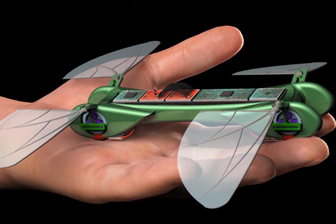 The TechJect Dragonfly fits in the palm of a hand