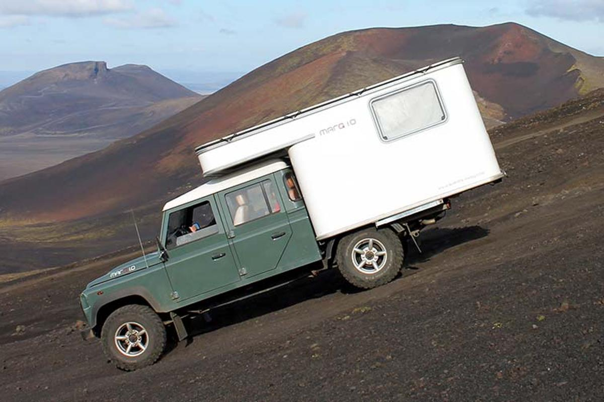 Quantis built its prototype on a Land Rover Defender 130