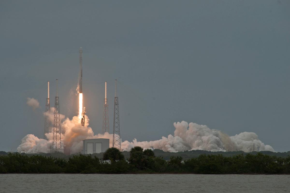 The Falcon 9 rocket lifted off after three previous launches were scrubbed (Photo: SpaceX)