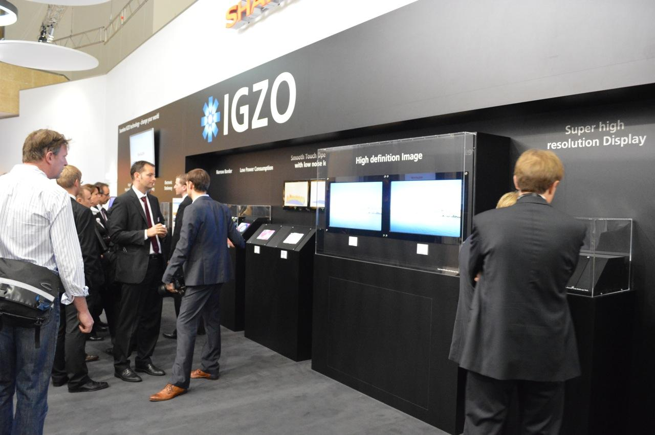 Sharp's unassuming IGZO stand at IFA2012