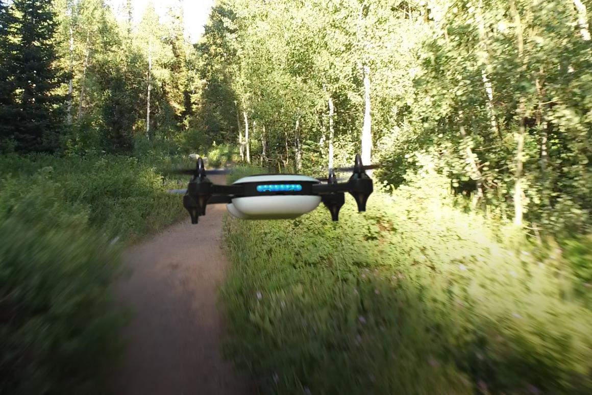 Teal drone: streams vision back to a phone, tablet or VR headset in 720p